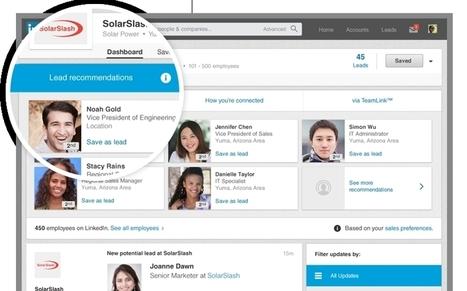 LinkedIn améliore la prospection commerciale - Actionco.fr | Réseaux Sociaux et actus du monde | Scoop.it
