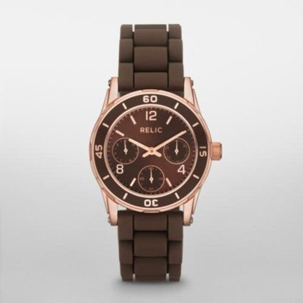 ^_^   RELIC Hannah Brown and Rose Gold-Tone Multifunction Watch Relic | Cheap Casual Watches Men | Scoop.it