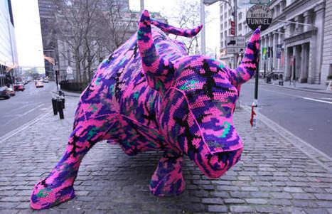 Un tricot pour le taureau de Wall Street | Mais n'importe quoi ! | Scoop.it