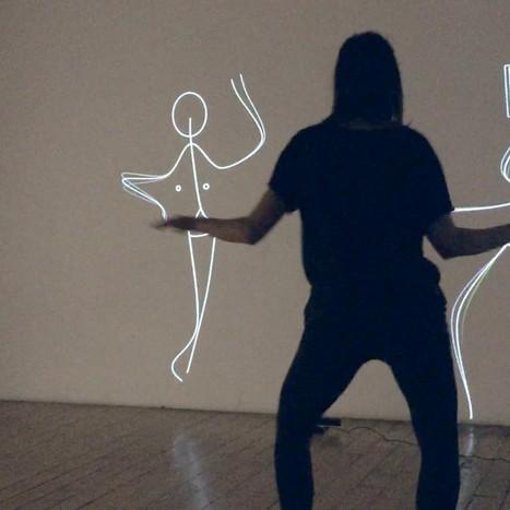 Une installation vous transforme en personnage en bâton dansant | Socialart | Scoop.it