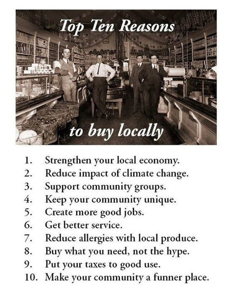 10 bonnes raisons d'acheter local / 1O top reasons to buy locally | Locavore | Manger Juste & Local | Scoop.it
