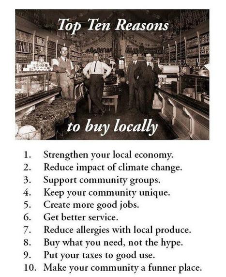 10 bonnes raisons d'acheter local / 1O top reasons to buy locally | Économie circulaire locale et résiliente pour nourrir la ville | Scoop.it
