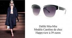 Les lunettes de soleil de la Fashion Week.   Happymag   Eyewear   Scoop.it