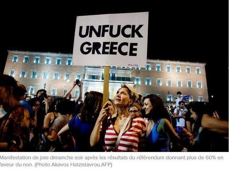 """Unfuck #Greece"" #Photo Akavos Hatzistavrou.AFP   Infos en français   Scoop.it"