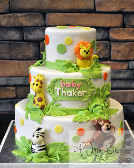 Jungle Themed Baby Shower Cake | Custom Cakes for You | Scoop.it