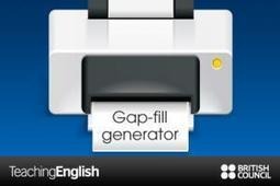 Gap fill generator | TeachingEnglish | British Council | BBC | TELT | Scoop.it