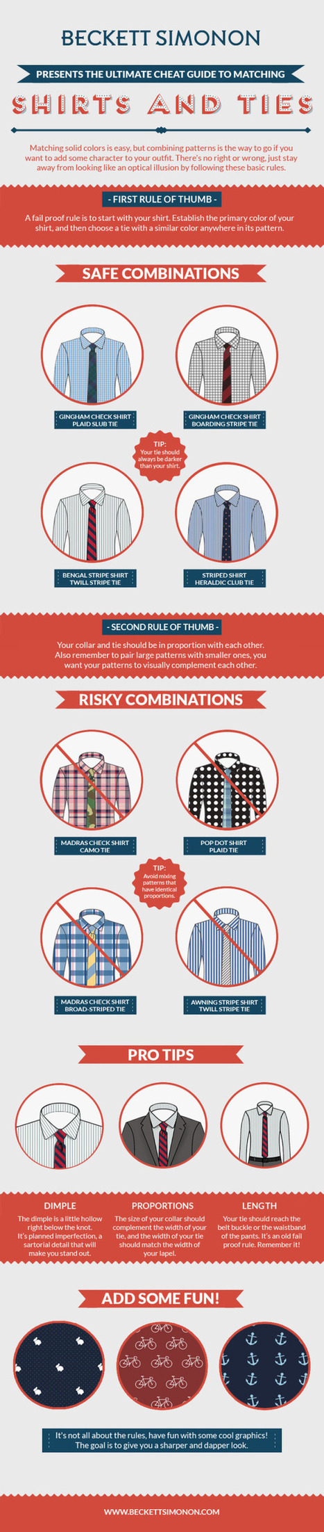 How to Match Shirt and TiePatterns - Cool Infographics | Fashion | Scoop.it