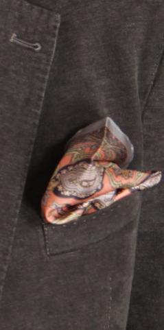 Pochette Piacemolto® in salmone, grigio-azzurro, giallo, motivo cachemire. | Camicie uomo su misura....consigli, curiosità e molto altro | Scoop.it