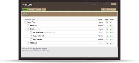 Wolf CMS - Open Source Content Management System - | CMS Tools | Scoop.it