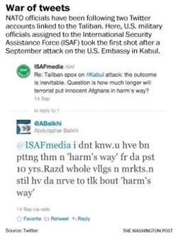 U.S. military, Taliban use Twitter to wage war by Ernesto Londoño | Twit4D | Scoop.it