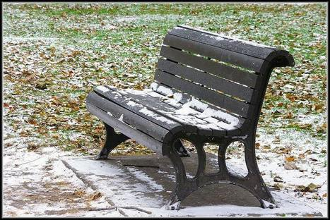 Neige sur un banc, par Pierre RC | The Blog's Revue by OlivierSC | Scoop.it