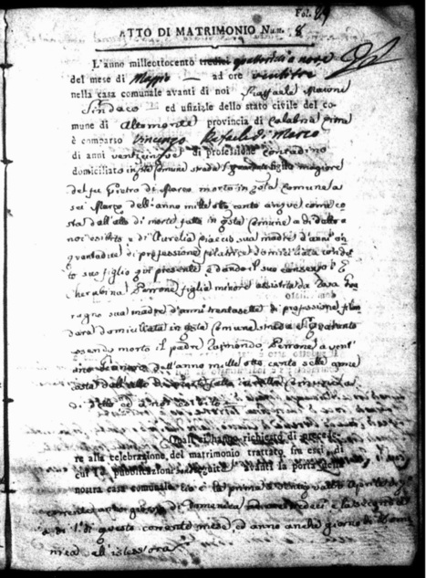 Working with the Documents - Mining an Italian Marriage Record for Useful Clues | Généal'italie | Scoop.it