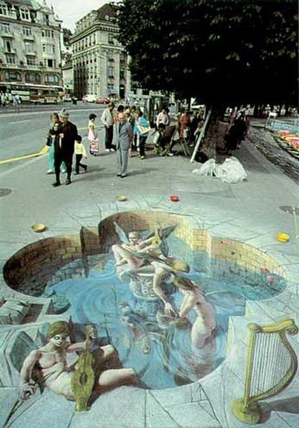 The incredible 3D street drawings of Julian Beever - 35 millimeter | Uppdrag : Skolbibliotek | Scoop.it