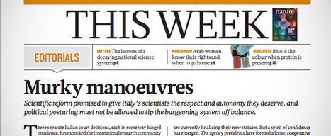 La scienza in Italia secondo Nature | Med News | Scoop.it