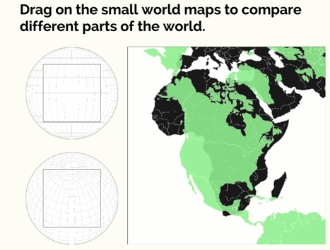 Web app - World map size comparison | Classroom geography | Scoop.it