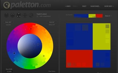 Paletton - The Color Scheme Designer | Collection d'outils : Web 2.0, libres, gratuits et autres... | Scoop.it