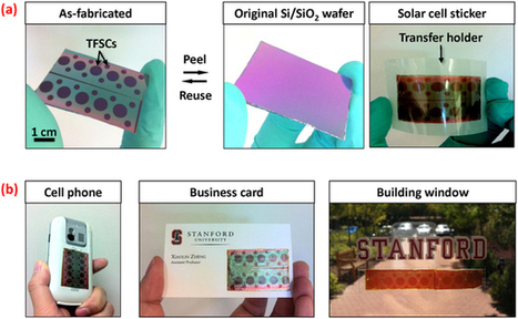 Peel-and-Stick: Fabricating Thin Film Solar Cells on Universal Substrates | Material for the 21st century | Scoop.it