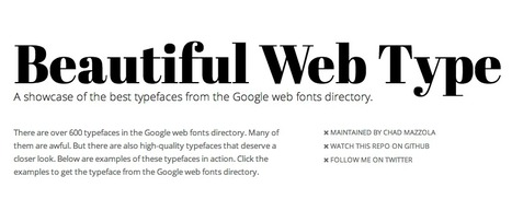 Beautiful web type — the best typefaces from the Google web fonts directory | Contemporary Art, Design and Technology | Scoop.it
