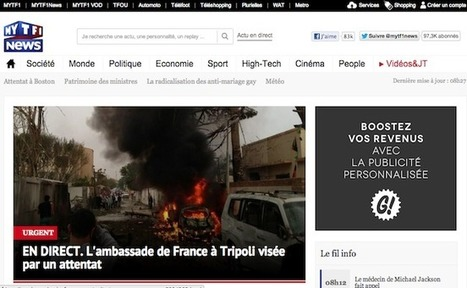 MYTF1News connectera les JT au second écran | Les médias face à leur destin | Scoop.it