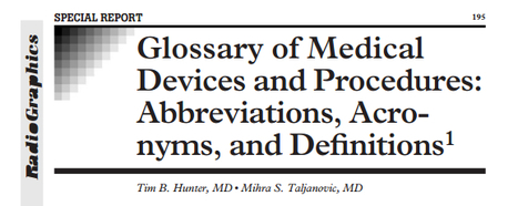 (EN) (PDF) - Glossary of Medical Devices and Procedures: Abbreviations, Acronyms, and Definitions | Tim B. Hunter & Mihra S. Taljanovic (GoogleDrive) | Aspiring translator | Scoop.it