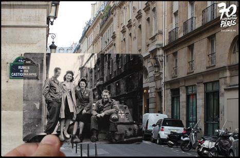 50 photos de la Libération de Paris se fondent dans le présent | Just French it | Scoop.it