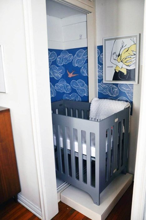 Small Space Style: Baby Bristow's Closet Nursery — My Room | MyCoop's Feathered Nest | Scoop.it