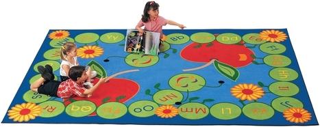 ABC Caterpillar Rectangle Rug   Educational Board   Scoop.it