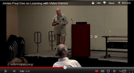 Jim Gee on The Use of Video Games for Learning About Learning | Spotlight on Digital Media and Learning | Games, Pedagogy, & Learning | Scoop.it