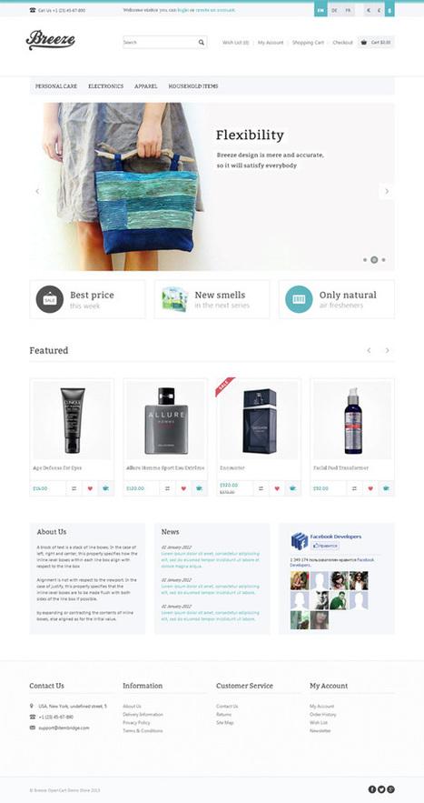 Breeze, Minimalistic Apparel Clothing Store Premium OpenCart Theme | Premium Download | Premium Opencart Themes | Scoop.it
