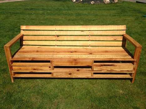 Outdoor Bench Made With 2 Meters Pallets   1001 Pallets ideas !   Scoop.it