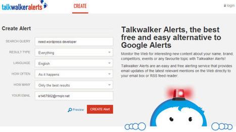 Talkwalker Alerts, the best free and easy alternative to Google Alerts | Le Top des Applications Web et Logiciels Gratuits | Scoop.it