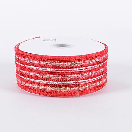 Red Laser Metallic Mesh Ribbon 25 Yards | FuzzyFabric | Scoop.it