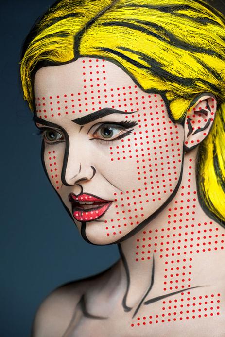 Des portraits recrées grâce au maquillage : une saisissante illusion | Beauté | Scoop.it