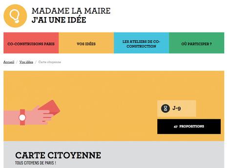 Carte citoyenne : TOUS CITOYENS DE PARIS ! | Madame la maire | actions de concertation citoyenne | Scoop.it