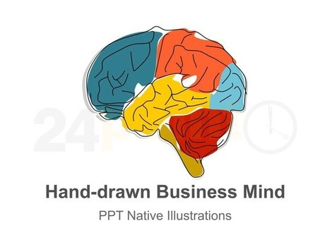 Business Mind PowerPoint Hand-drawn Template -  Give visual touch to your words | Psychology | Scoop.it