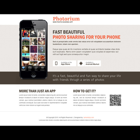 fast beautiful photo sharing from your phone application landing page design | responsive landing pages | Scoop.it