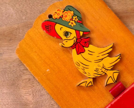 Vintage Cute Wooden Duck Shopping Reminder Plaque Duckie with Hat Nursery Kitchen | Antiques & Vintage Collectibles | Scoop.it