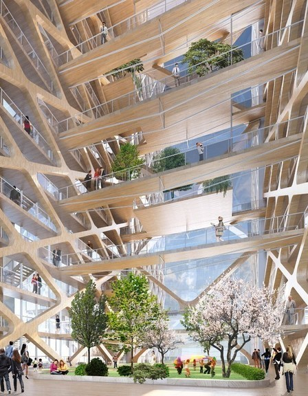 The Tallest TIMBER Tower Yet: Perkins + Will's Concept Proposal for River Beech Tower | The Architecture of the City | Scoop.it