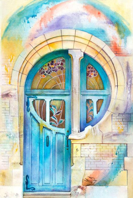Ukrainian Artist Travels The World Painting #Doors In #Watercolour. #art #painting   Luby Art   Scoop.it