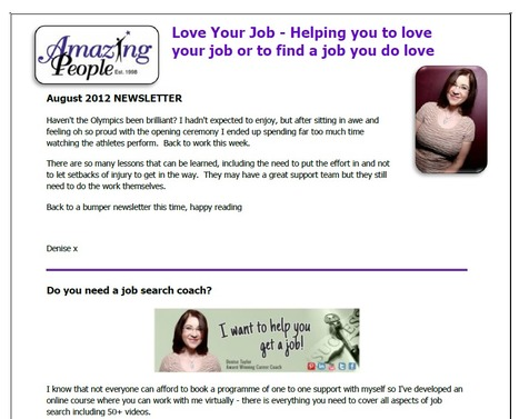 Love Your Job August Newsletter | Career Advice | Scoop.it
