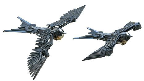Beautiful bird sculptures made entirely of typewriter parts | Strange days indeed... | Scoop.it