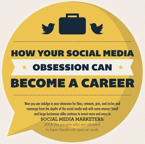 How Your Social Media Obsession Can Become A Career [INFOGRAPH] | Digital and Social | Scoop.it