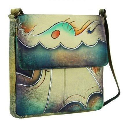 (1)   GreenLand NATURE Art + Craft Umhängetasche Leder 29 cm (handbemalt) | Damen Handtaschen Günstig | Scoop.it