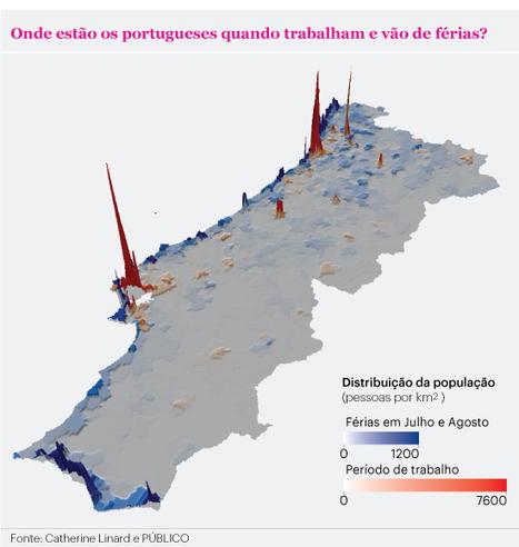 Telemóveis fornecem mapas da densidade populacional portuguesa quase em tempo real | geoinformação | Scoop.it