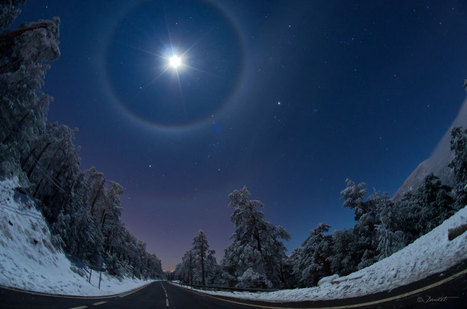 APOD: 2012 December 3 - A Quadruple Lunar Halo Over Spain | Places of Peace | Scoop.it