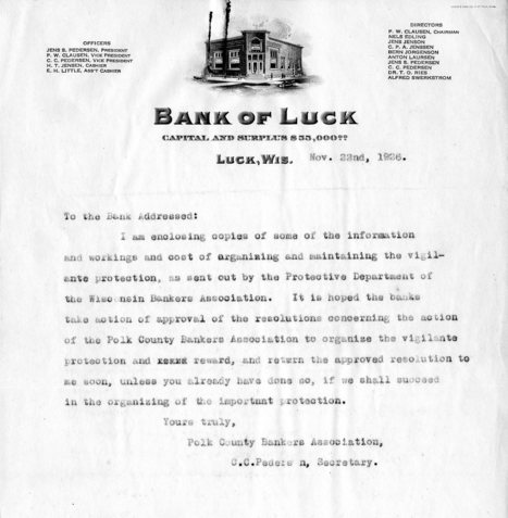 Primary source #3 letter from Bank of Luck. | Hardships during The Great Depression | Scoop.it