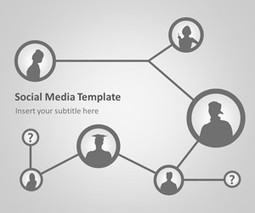 Social Network PowerPoint Template | How to get a job | Scoop.it