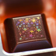 Etched Chocolate Sparkles with Colorful Holograms : DNews | IT News from Web Synergies, Singapore | Scoop.it