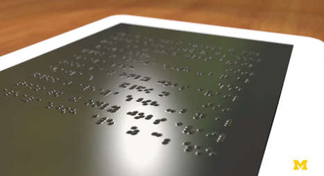Dynamic Touchscreen Could Display In Braille | Hawaii Science and Technology Digest | Scoop.it