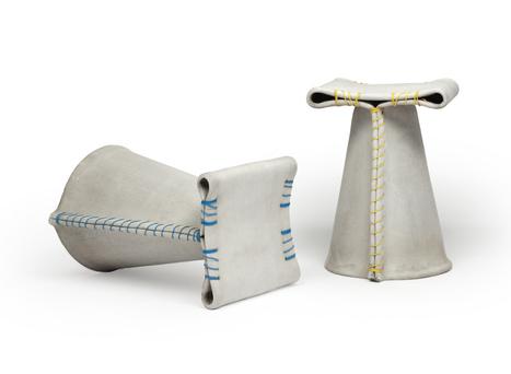 """""""Stitched Concrete"""": siège mélange de tissu et de béton   Mobilier d'exception   Scoop.it"""
